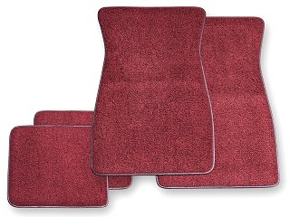 Classic ford mustang carpet floor mats parts for 1965 for 1965 mustang floor mats
