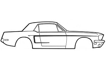 Smoked Out Tail Lights additionally Mustang Fastback Economy Window Channel Strip Set C5zz 63214589e additionally Truck Roll Bars With Lights together with Image classicmustang c29 113374 furthermore  on 1966 mustang grille lights