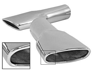 Classic Ford Mustang Exhaust Trumpets Tips Parts For